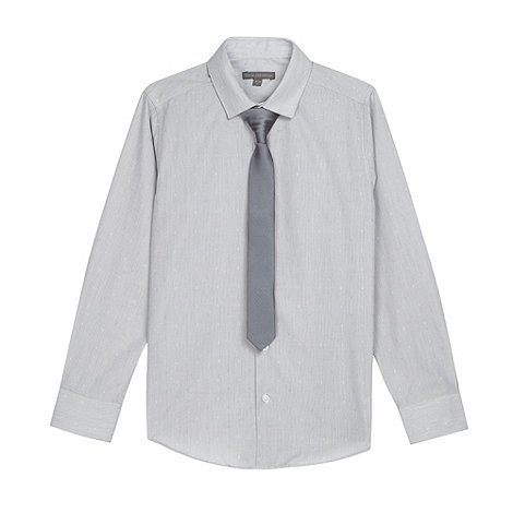 RJR.John Rocha - Designer boy+s grey spotted shirt and tie set