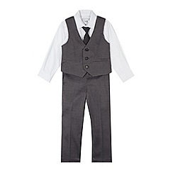 RJR.John Rocha - Designer boy's grey herringbone four piece suit