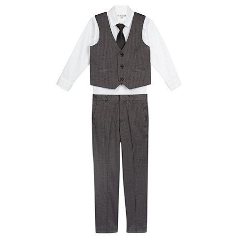 RJR.John Rocha - Designer boy+s grey herringbone suit set