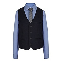 RJR.John Rocha - Designer boy's navy slim fit waistcoat, shirt and tie set
