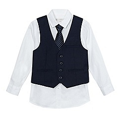 RJR.John Rocha - Boys' navy shirt, tie and waistcoat set
