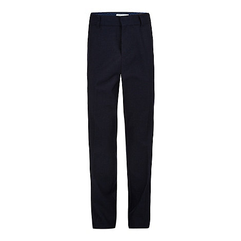 RJR.John Rocha - Designer boy+s navy slim fit suit trousers