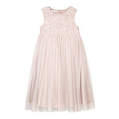 RJR.John Rocha - Designer girl's light pink sequin floral bodice dress