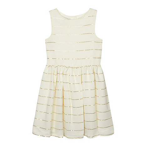 Debenhams - Designer girl+s gold sequin dress