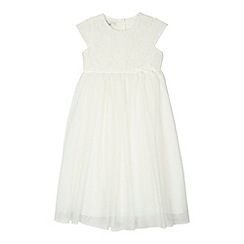 RJR.John Rocha - Designer girl's ivory lace bodice dress