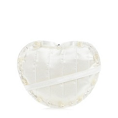 Debenhams - Girl's ivory rosebud detail heart bag
