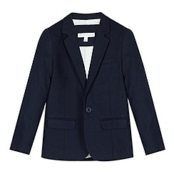 RJR.John Rocha - Designer boy's navy linen blend jacket