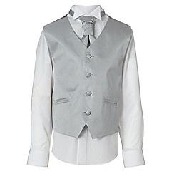 RJR.John Rocha - Designer boy's silver waistcoat, shirt and cravat set