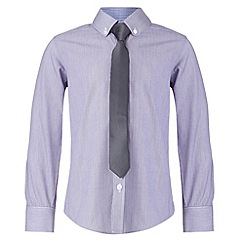 RJR.John Rocha - Designer boy's lilac striped shirt and tie set