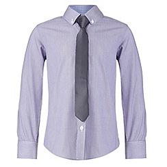 RJR.John Rocha - Designer boy's lilac striped shirt and tie set
