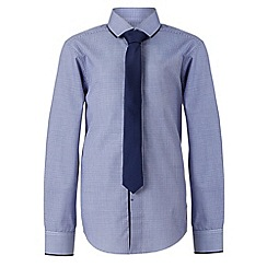 RJR.John Rocha - Designer boy's navy gingham shirt and tie set