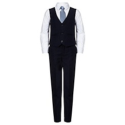 RJR.John Rocha - Designer boy's navy four piece suit