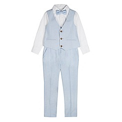 RJR.John Rocha - Designer boy's blue four piece suit