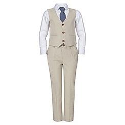 RJR.John Rocha - Designer boy's beige four piece suit