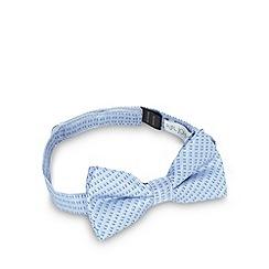 RJR.John Rocha - Designer boy's blue mini jacquard squares bow tie