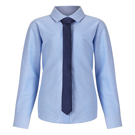 Rjr john rocha designer boy 39 s light blue oxford shirt and for Oxford shirt with tie