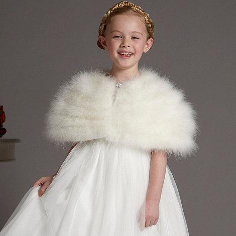 Pearce II Fionda - Designer girl+s ivory marabou cape