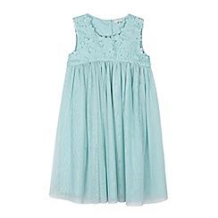 RJR.John Rocha - Designer girl's aqua floral bodice dress