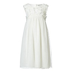 RJR.John Rocha - Designer girl's ivory flower bodice dress