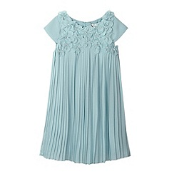 RJR.John Rocha - Designer girl's aqua 3D flower pleated dress