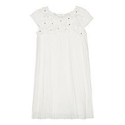 RJR.John Rocha - Designer girl's ivory 3D flower pleated dress