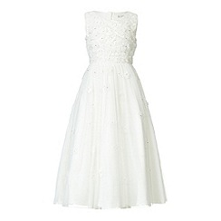 RJR.John Rocha - Designer girl's ivory scattered flower Communion dress