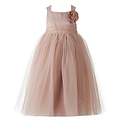 RJR.John Rocha - Designer girl's pink mesh corsage dress