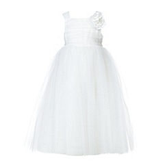 RJR.John Rocha - Designer girl's white flower occasion communion dress