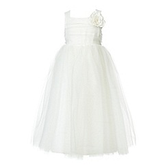RJR.John Rocha - Designer girl's ivory flower occasion dress
