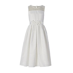 RJR.John Rocha - Designer girl's ivory flower dress