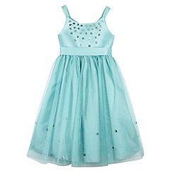 RJR.John Rocha - Designer girl's aqua sequin flower dress