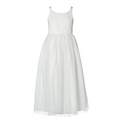 RJR.John Rocha - Designer girl's ivory sequin flower dress