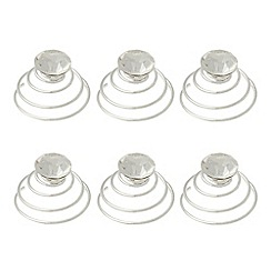 Debenhams - Girl's silver diamant  hair swirl clips