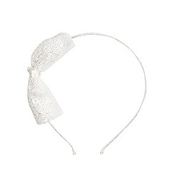 Debenhams - Girl's ivory bow head band