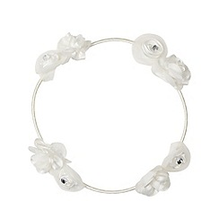 Debenhams - Girl's ivory floral halo
