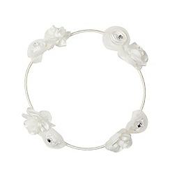 Debenhams - Girl's ivory floral halo
