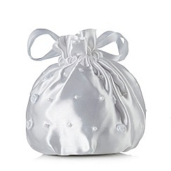 Debenhams - Girl's white rose dolly bag