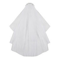 Debenhams - Girl's white diamante headband veil