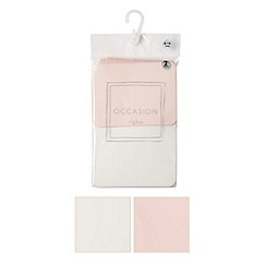 Debenhams - Pack of two girl's ivory and pink plain tights