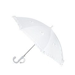 Debenhams - Girl's white bow parasol