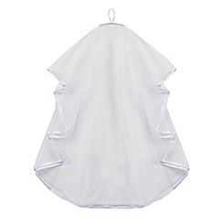 Debenhams - Girl's white diamante comb veil