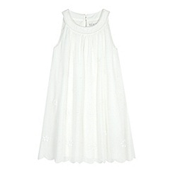 RJR.John Rocha - Designer girl's ivory beaded A-line dress