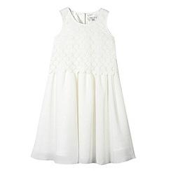 RJR.John Rocha - Designer girl's ivory lace overlay dress