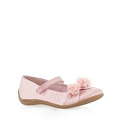 Debenhams - Girl's pink 3D corsage crepe sole shoes