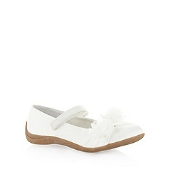 Debenhams - Girl's ivory 3D corsage crepe sole shoes