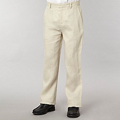 St George by Duffer - Boy's natural linen trousers