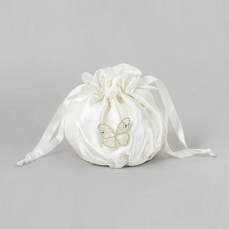 Debenhams - Girl+s ivory butterfly bag