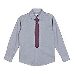 RJR.John Rocha - Designer boy's purple checked shirt and tie set