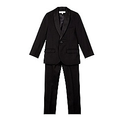 RJR.John Rocha - Designer boy's black slim fit tuxedo jacket and trousers set
