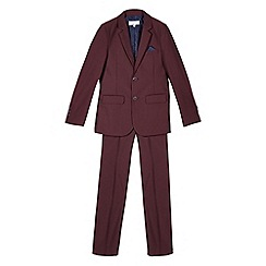 RJR.John Rocha - Designer boy's wine blazer and trousers set